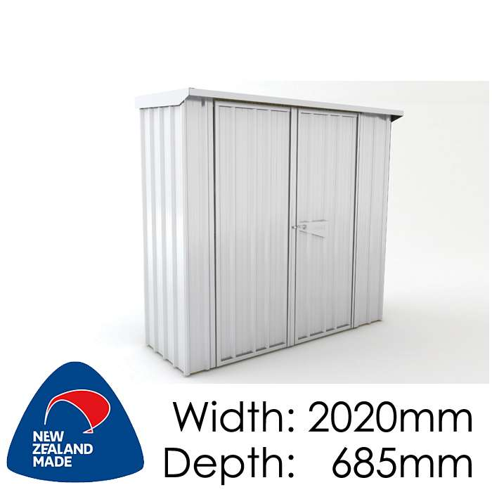 SmartStore Skillion SM2007 2020x685 Zincalume Shed available at Gubba Garden Shed