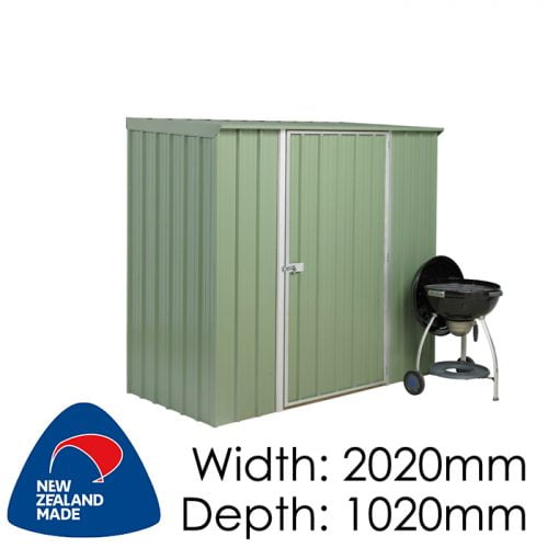 SmartStore Skillion SM2010 2020x1020 Mist Green Shed available at Gubba Garden Shed
