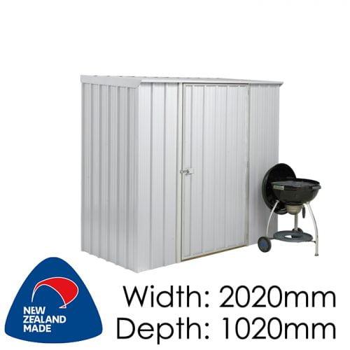 Garden Sheds NZ Smart-Store-SM2010-Zinc1-500x500