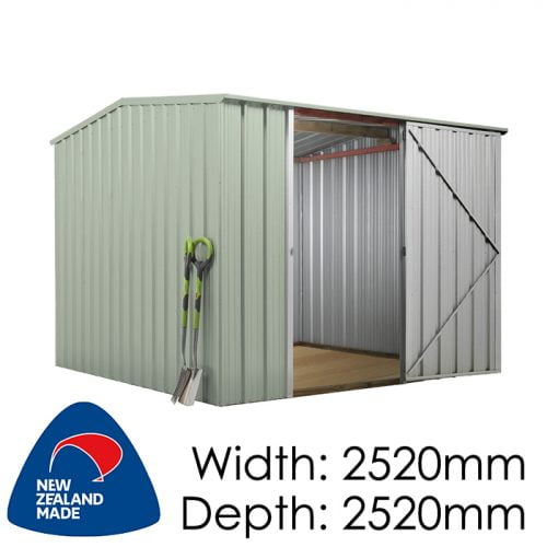 SmartStore Gable SM2525 2520x2520 Mist Green available at Gubba Garden Shed