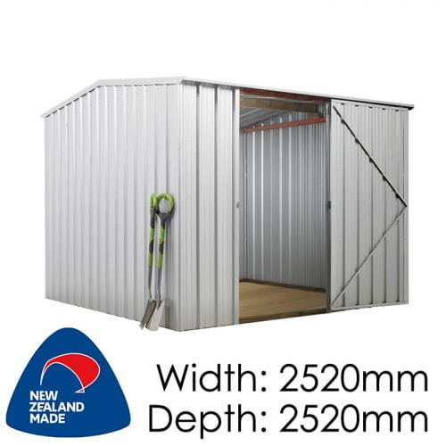 SmartStore Gable SM2525 2520x2520 Zincalume Shed available at Gubba Garden Shed