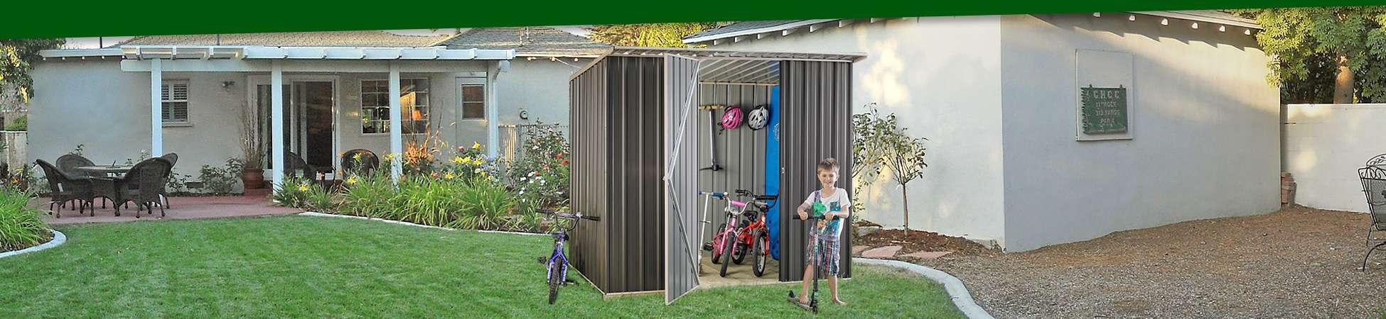 Galvo GVO1508 Zincalume Garden Shed