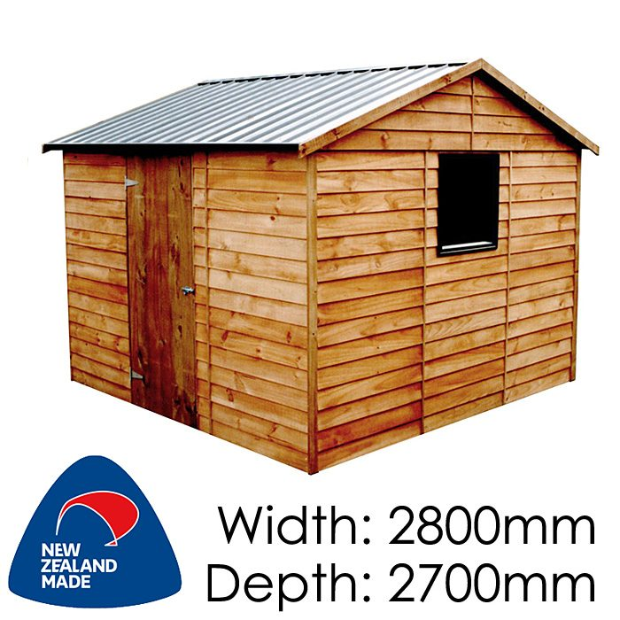 Garden Sheds NZ pinehaven-dunstan-timber-shed-700x700