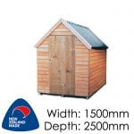 Pinehaven 1500x2500 Kaweka Timber Garden Shed available at Gubba Garden Shed
