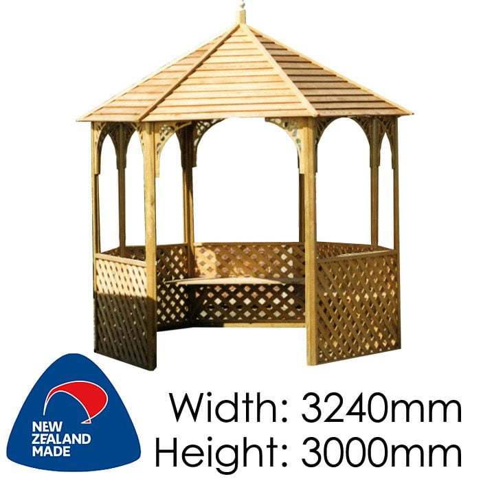 Garden Sheds NZ pinehaven-waimarama-timber-gazebo-700x700
