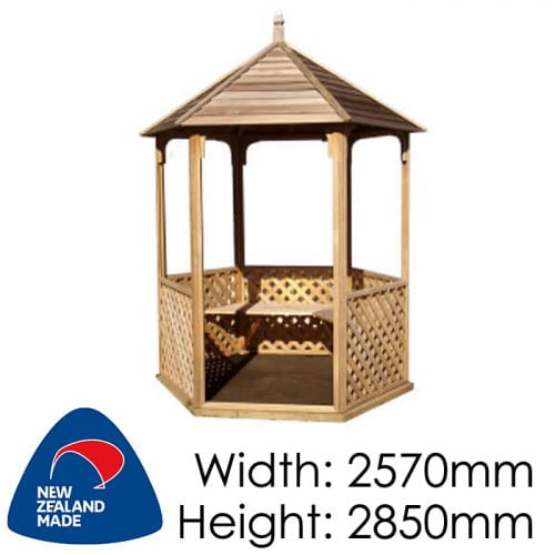 Garden Sheds NZ pinehaven-wainui-timber-gazebo-500x500