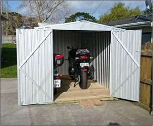 Garden Sheds NZ Garden-Master-End-Entry-Motorbike-Shed-1