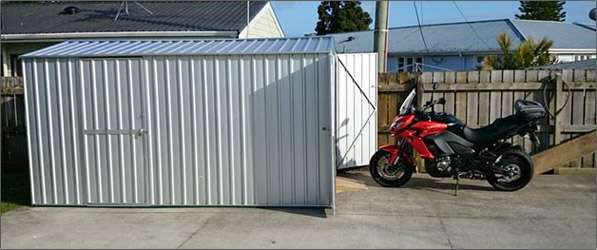 Garden Sheds NZ Garden-Master-End-Entry-Motorbike-Shed-2