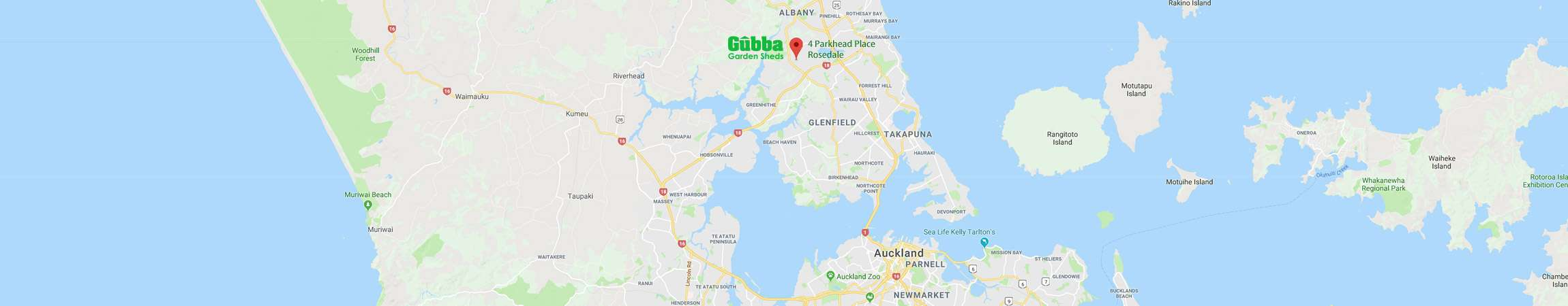 Gubba Garden Sheds Location
