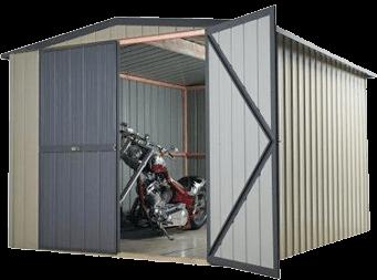 Garden Sheds NZ Motorbike-Sheds-Garages