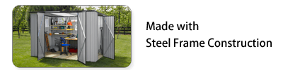 Garden Sheds NZ garden-master-steel-frame-construction