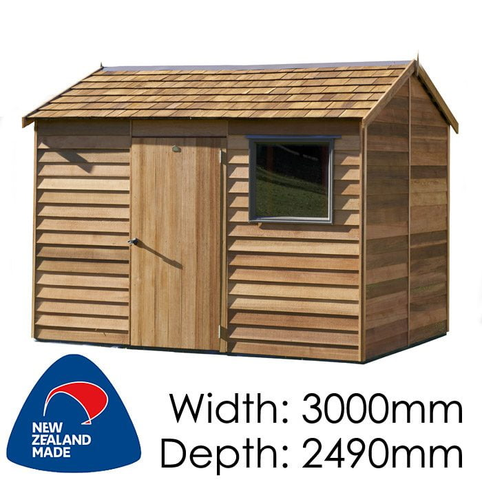 Cedar 3000x2490 Montrose Timber Garden Shed available at Gubba Garden Shed