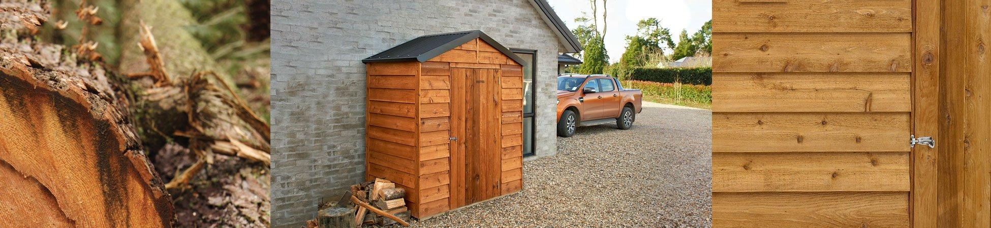 Rustics Kansas Timber Garden Shed