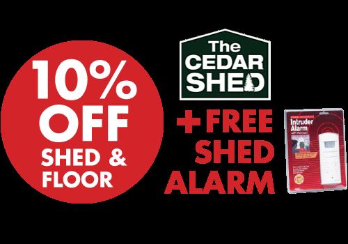 Cedar Cambridge Locker Timber Garden Shed