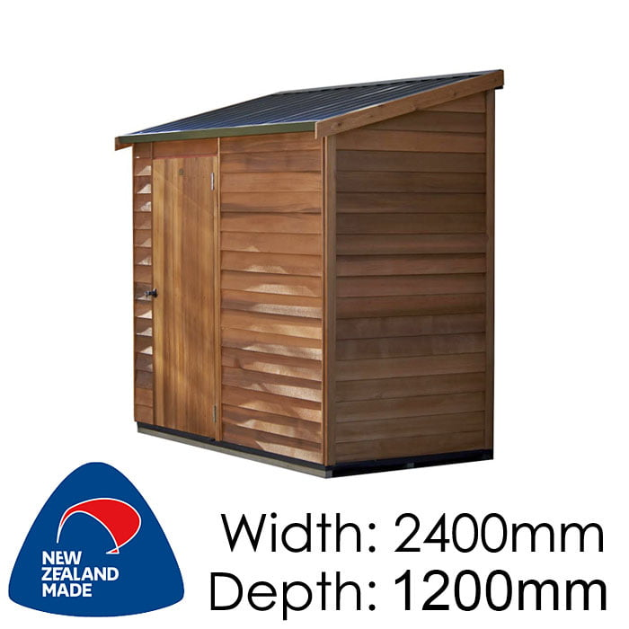 Cedar 2400x1200 Woodridge Timber Garden Shed available at Gubba Garden Shed