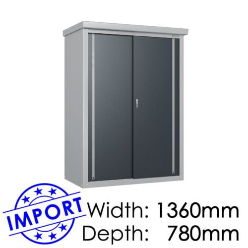 Daiken GY137 1360mmx780mm Outdoor Storage Shed / Locker available at Gubba Garden Shed