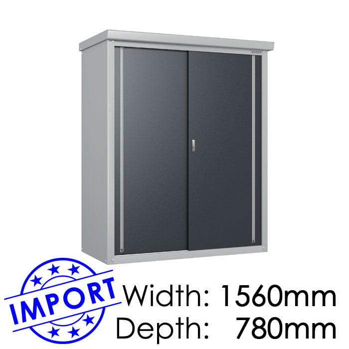Daiken GY157 1560mmx780mm Outdoor Storage Shed / Locker available at Gubba Garden Shed