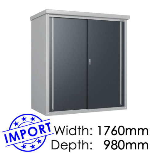 Daiken GY179 1760mmx980mm Outdoor Storage Shed / Locker available at Gubba Garden Shed