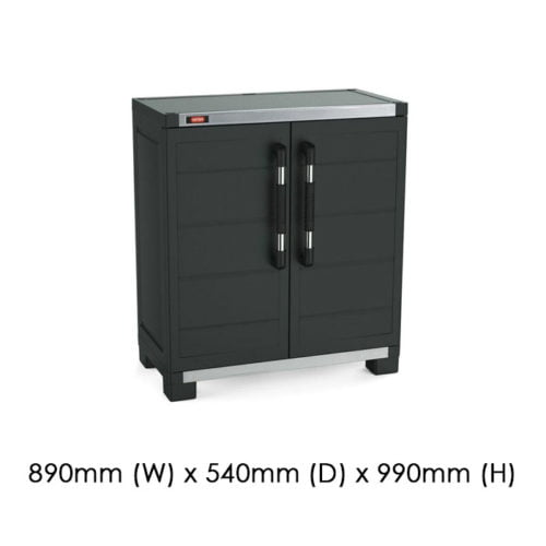 Keter 890x540 XL Garage Base Cabinet available at Gubba Garden Shed