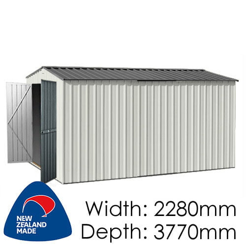 Garden Master GGM3823EE 2280x3770 – Special End Entry Garden Shed available at Gubba Garden Shed