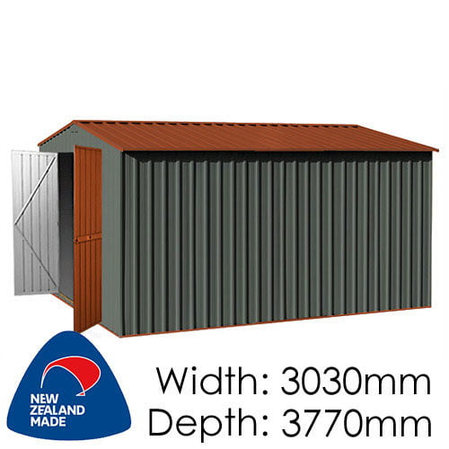 Garden Master GGM3830EE 3030x3770 – Special End Entry Garden Shed available at Gubba Garden Shed