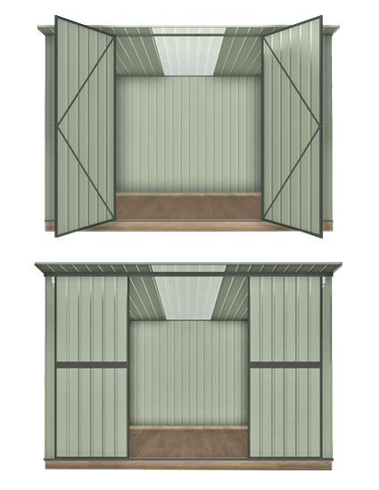 Garden Sheds NZ Garden-Master-Double-Hinged-or-Sliding-Doors