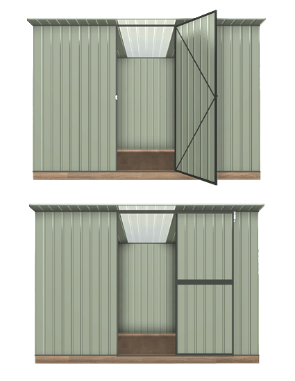 Garden Sheds NZ Garden-Master-Hinged-or-Sliding-Doors