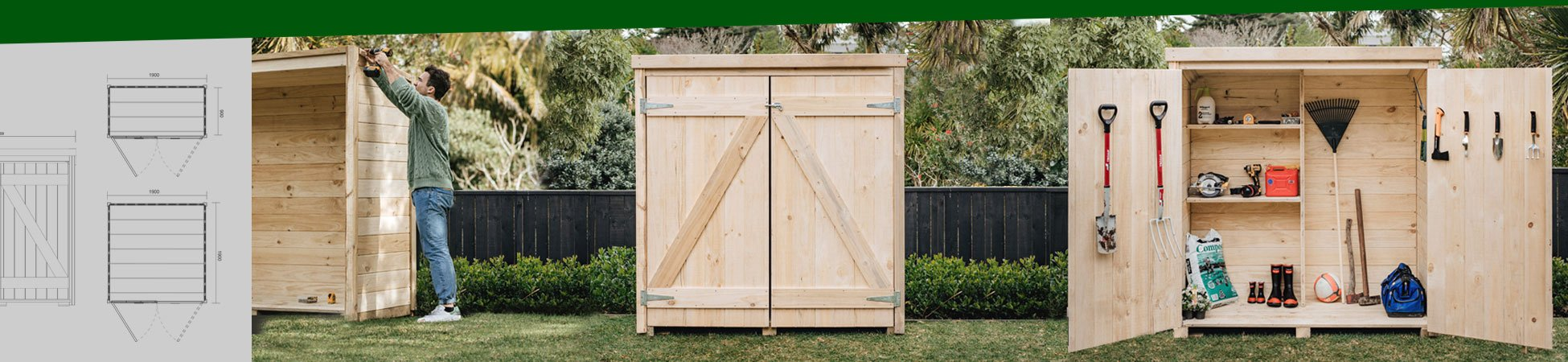 Laminata 1890mm x 1890mm Timber Storage Shed