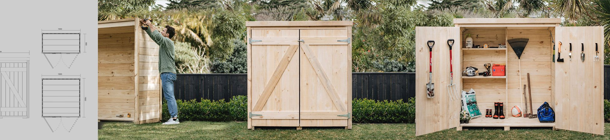Laminata 1800mm x 885mm Timber Storage Shed