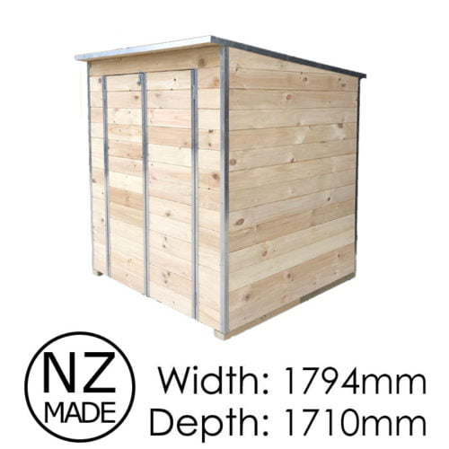 Laminata Shed 1800 1794x1710 Timber Storage Shed available at Gubba Garden Shed