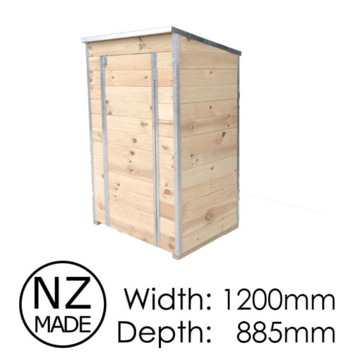 Laminata Shed 500 1200x885 Timber Storage Shed available at Gubba Garden Shed
