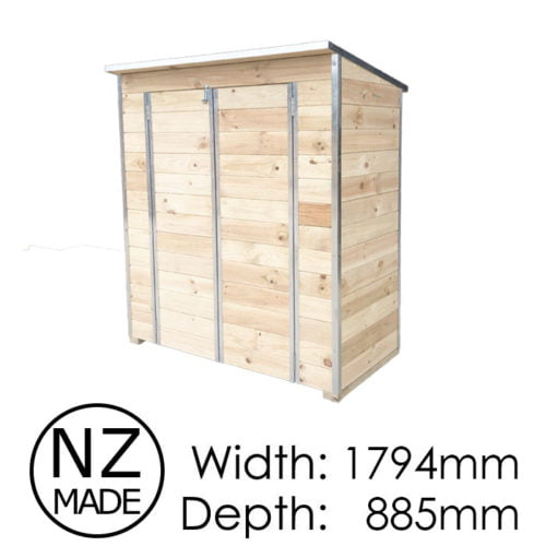 Laminata Shed 900 1794x885 Timber Storage Shed available at Gubba Garden Shed