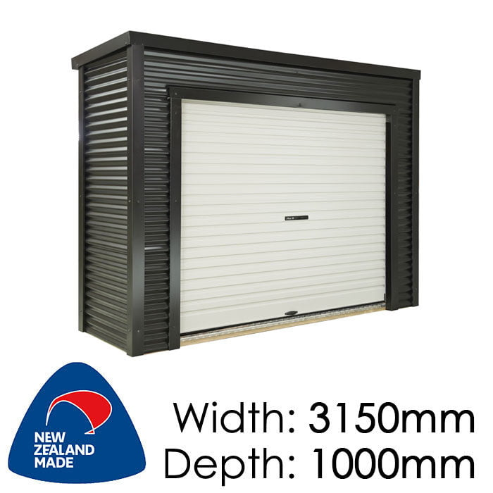 Duratuf Metro Fendalton 3150x1000 Lifestyle Shed available at Gubba Garden Shed