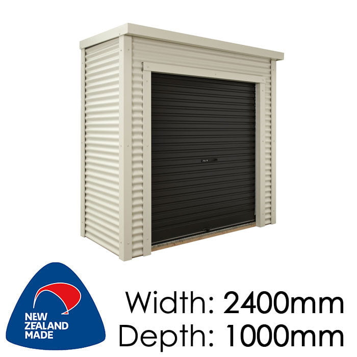 Duratuf Metro Ponsonby 2400x1000 Lifestyle Shed available at Gubba Garden Shed