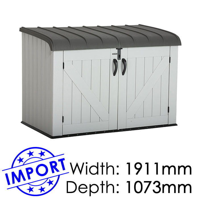 Lifetime 1911mmx1073mm Outdoor Horizontal Shed LT60203 available at Gubba Garden Shed