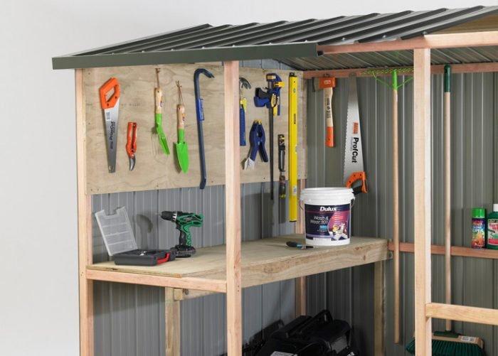 Duratuf Kiwi MK1 1715x1715 Garden Shed Inside Look