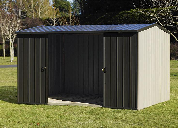 Duratuf Kiwi MK3B Garden Shed Double Sliding Doors