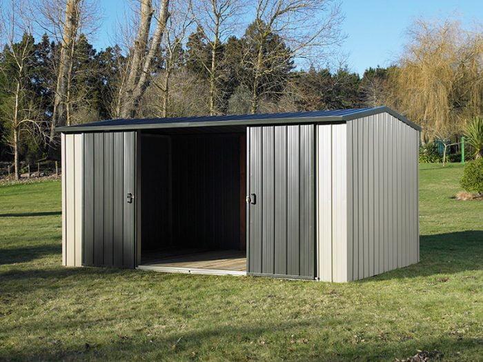 Duratuf Kiwi MK4A10m2 3876x2545 Garden Shed Doors Open
