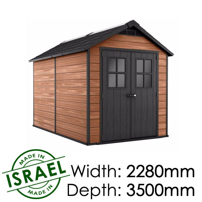Keter Newton 7511 2280x3500 Outdoor Storage Shed available at Gubba Garden Shed