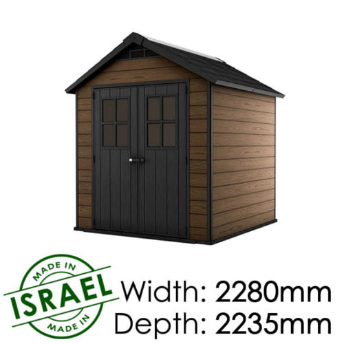 Keter Newton 757 2280x2235 Outdoor Storage Shed available at Gubba Garden Shed