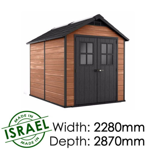 Keter Newton 759 2280x2870 Outdoor Storage Shed available at Gubba Garden Shed