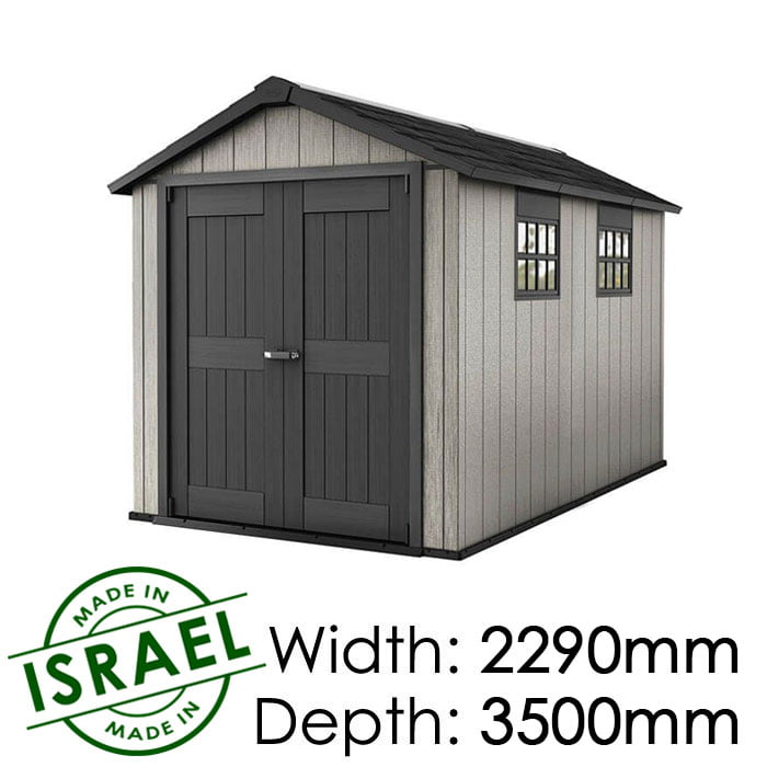Keter Oakland 7511 2290x3500 Outdoor Storage Shed available at Gubba Garden Shed