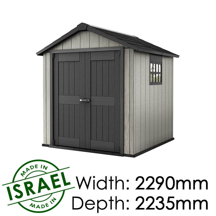 Keter Oakland 757 2290x2235 Outdoor Storage Shed available at Gubba Garden Shed