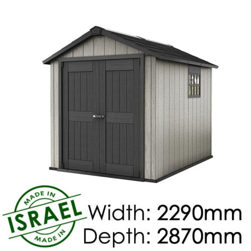 Keter Oakland 759 2290x2870 Outdoor Storage Shed available at Gubba Garden Shed