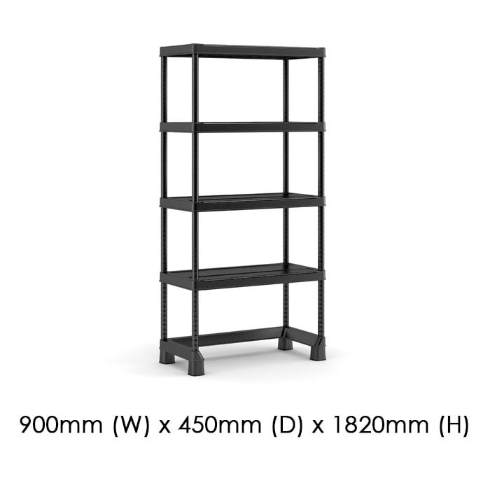 Keter 900x450 Open Base Shelving Midi available at Gubba Garden Shed
