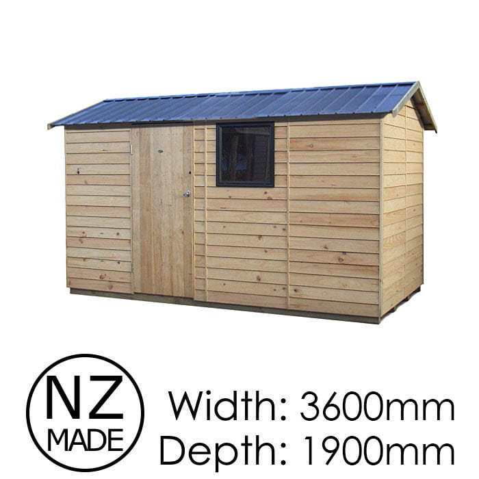 Pinehaven 3600x1900 Ben Mcleod Timber Garden Shed available at Gubba Garden Shed