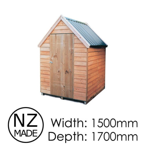 Pinehaven 1500x1700 Kaimai Timber Garden Shed available at Gubba Garden Shed