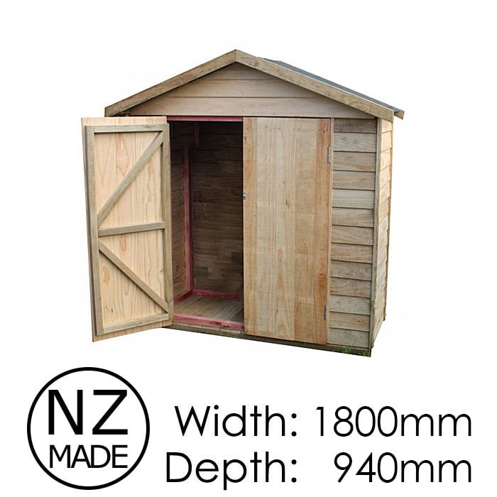 Pinehaven 1800x940 Pakatoa Timber Garden Shed available at Gubba Garden Shed