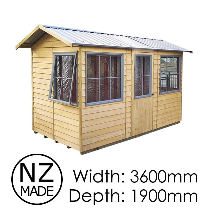 Pinehaven 3600x1900 Summerhouse Pohutukawa Timber Garden Shed available at Gubba Garden Shed