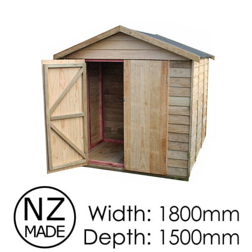 Pinehaven 1800x1500 Rangitoto Timber Garden Shed available at Gubba Garden Shed